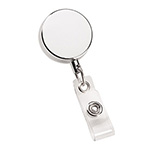 - Metal Zip Pull Badge Holder - Silver