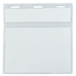 Card Holders - Double ID Pocket - Clear