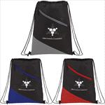 - Slanted  Non-Woven Drawstring Bag