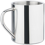 Metal Mugs - Polished Stainless Steel Mug - Silver