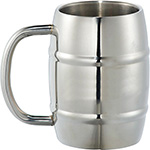 Metal Mugs - Growl Stainless Steel Barrel Mug - Silver
