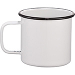 Metal Mugs - Enamel Metal Cup - White