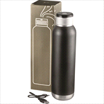 Vacuum Insulated - Soundwave Copper Vacuum Audio Bottle - Black