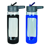 Sippers  - Sleeve Glass Drink Bottle with Sipper
