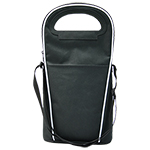 Cooler Bags - Two Bottle Wine Cooler - Black