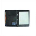 Non-Leather A4 Compendium - A4 Folder with Pad - Black