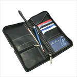 - Nappa Leather Travel Wallet - Black
