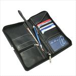 Passport Wallets - Nappa Leather Travel Wallet - Black