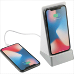 - Weston Wireless Charging Power Bank Stand & Speaker