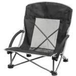 - Folding Beach Chair - Black