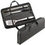 Barbeque - 3 Piece Stainless Steel BBQ Set - Black