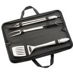 - 3 Piece Stainless Steel BBQ Set - Black