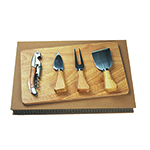 Home and Travel - Cheese Board Set - Wood