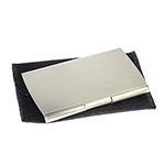 Back to School and Work - Pocket Business Card Holder - Silver