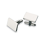 Personal Accessories - Plain Cufflinks - Silver