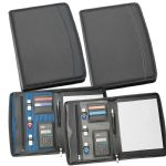 - A4 Zippered Compendium with Calculator