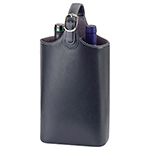 Wine Carriers - Bonded Leather Wine Carrier - Black