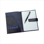 - A5 Leather Pad Cover in Black
