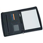 Tablet Compatible - A4 Zippered Compendium - Black