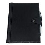 Leather Pad Covers - Brigadier A5 Refill Leather Journal Padfolio - Black