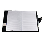 Compendiums  - Brigadier A5 Refill Leather Journal Padfolio - Black