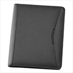 - A4 Bonded Leather Compendium - Black