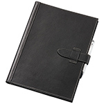 Leather Pad Covers - Tuscan A4 Pad Cover - Black