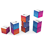 Desk Items - Magnetic 360 Square Calendar - Multi Colour