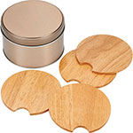 - Bullware Wood Coaster Sets