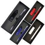 - Gift Set with Lacquered Rotate Flash Drive & Hawk Pen
