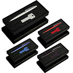 USB Flash Drives - Gift Set with USB8011 Key USB & 627 Grobisen Pen