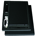 JournalBooks - Gift Set with JB1008 Journal, 7701 Jolt Charger & 6012 Danley Pen (in Black)