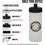 Sports Bottles - 16-oz. Sports Bottle - Natural/White
