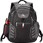 Back to School and Work - High Sierra Swerve Big Wig 17 in Computer Backpack - Black