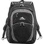 High Sierra - High Sierra Overtime Fly-By 17inch Computer Backpack - Black
