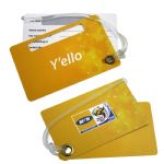 Plastic - Hard Plastic Double Luggage Tag