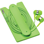 - Silicone Card Wallet and Wired Earbuds