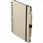- 5'''' x 7''''  Wheat Straw Notebook With Pen