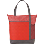 - Chrome Non-Woven Zipper Convention Tote