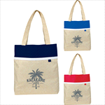 - Deluxe Lined Linen Tote