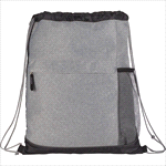 - Heather Melange Drawstring Bag