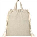 - Recycled 4oz Cotton Drawstring Bag