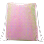 - Iridescent Non-Woven Drawstring Bag