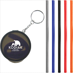 Keyrings - Reusable Silicone Straw Keychain
