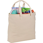 - 10 oz. Basic Cotton Canvas Zippered Tote