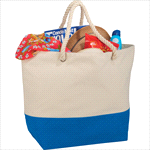 - Zippered 12oz Cotton Canvas Rope Tote