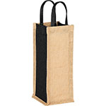 - Jute Single Bottle Wine Tote