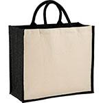 Tote Bags - Metallic Jute and Cotton Shopper Tote