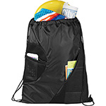 - Zippered Mesh Drawstring Sportspack