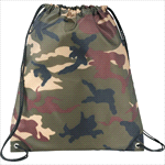 - Camo Oriole Drawstring Bag